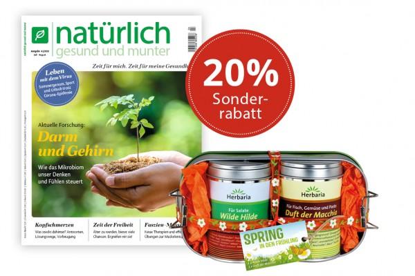 Geschenkabo mit 20% Rabatt und Herbaria Gewürzbox
