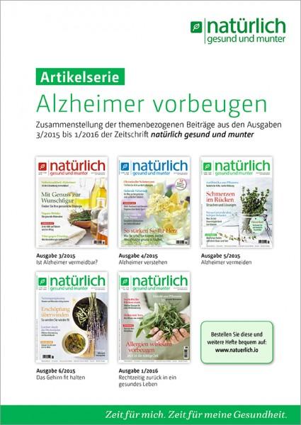 Alzheimer vorbeugen - pdf-Download