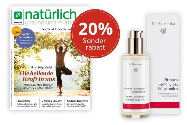 Geschenkabo mit 20% Rabatt + Körpermilch von Dr. Hauschka